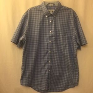 NWOT van Heusen Plaid No Iron XL Casual Shirt